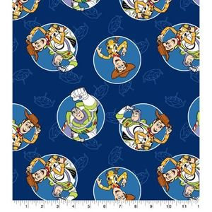 Buzz and Woody Toy Story Cotton Fabric